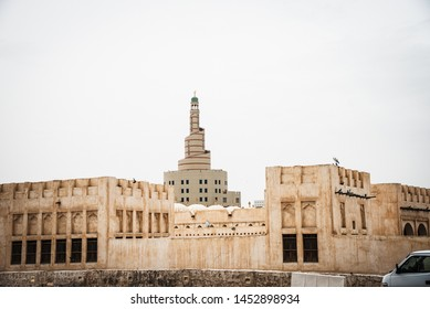 Al Fanar Mosque, nicknamed the Spiral Mosque, in Doha, Qatar.