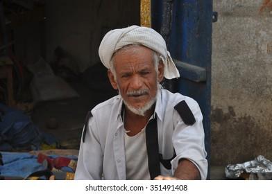 AL HUDAYDAH, YEMEN - Dec, 31: People at the street market of the city on December, 31, 2009. AL HUDAYDAH, YEMEN