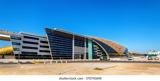 Al Jafiliya Metro Station on the Red Line, Dubai