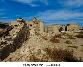 Al Jazirah Al Hamra ghost town in Ras al-Khaimah. Abandoned settlement in United Arab Emirates