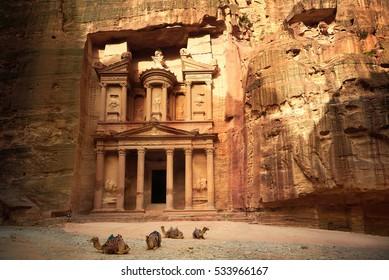 Al Khazneh - the treasury, ancient city of Petra, Jordan