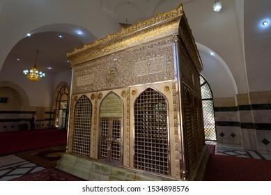 Al Mazar Al Janobi, Jordan - Circa September 2018 : Tomb of Jafar Abi Talib at Maqamat Al Sahaba