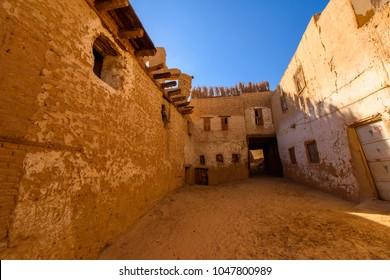 Al Qasr, old village in Dakhla Desert, Egypt