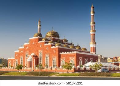 Al Salam Mosque in Al Barsha, Dubai, United Arab Emirates.