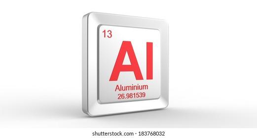 Al Symbol 13 Material Aluminum Chemical Stock Illustration 183778163