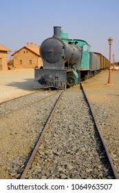Al Ula, Saudi Arabia - September 23, 2018: Restored Hejaz railway train built for by the Turkish to connect Damascus and Makkah for Haj Pilgrimage during the height of Ottoman Empire.