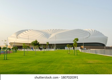 Al Wakrah, Qatar - September 2020: Al Janoub Stadium, formerly known as Al Wakrah Stadium, is a football stadium in Al-Wakrah. This is the second among the eight stadiums for the 2022 FIFA World Cup