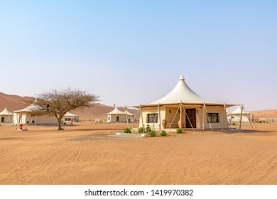 Al Wasil, Oman - August 15, 2018: Wahiba Sands in Oman. It is known as Sharqiya Sands or Ramlat al-Wahiba.