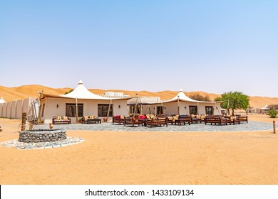 Al Wasil, Oman - August 15, 2018: Desert Nights Camp in Wahiba Sands, Oman.