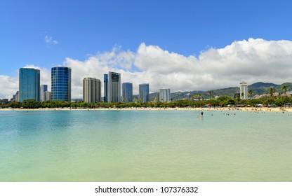 ala moana beach, Honolulu, Hawaii