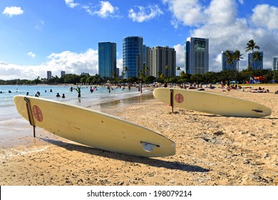 ala moana beach in Honolulu, Hawaii