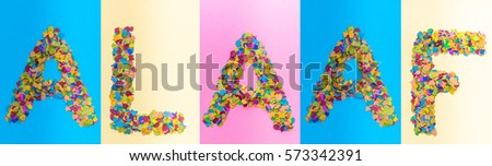 Alaaf Confetti Letters Exclamation Cologne Rose Stock Photo Edit