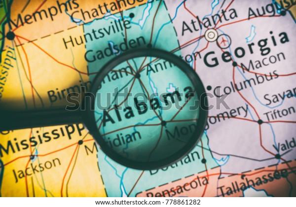 Alabama map background