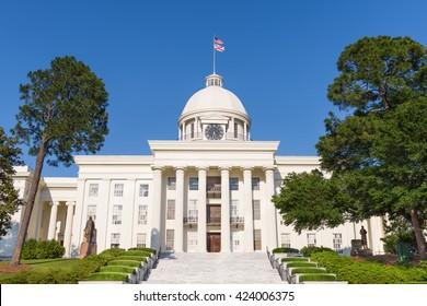 Alabama State Capitol in Montgomery, Alabama.