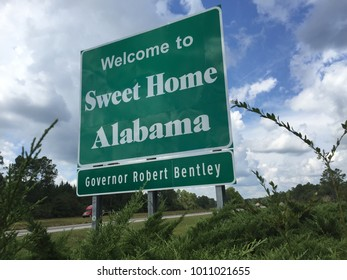 Alabama welcome sign