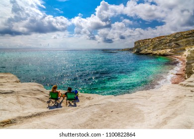 Alacati coastal view in Izmir Province