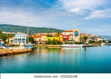 Alacati Town coast view in Cesme Town. Alacati is populer tourist destination in Turkey
