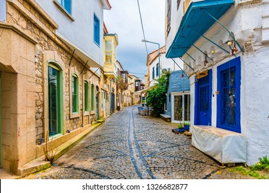 Alacati Town street view. Alacati is populer tourist destination in Turkey.