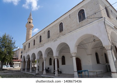 Alacati, Turkey - May 22, 2019 : Alacati street view in Alacati Town. Alacati is populer historical tourist destination in Turkey. - Image