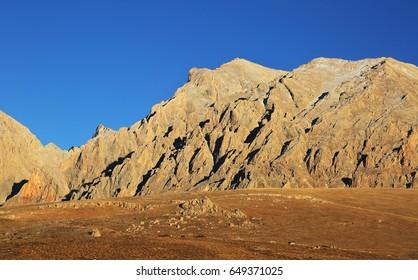 Aladaglar National Park at Nigde in Turkey. Aladaglar is most important mountain range in Turkey.