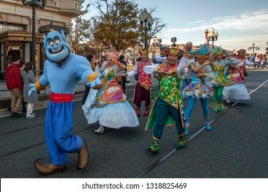 Aladin Caharacter in Universal Studio's Street Carnaval Tokyo. 02 01 2017
