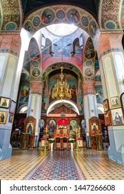 ALAGIR, RUSSIA - 16 MAY 2019: Alagir orthodox church. Alagir, Russia.