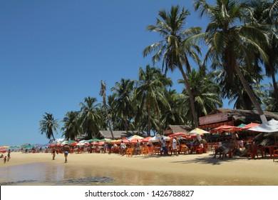 Alagoas / Brazil - 09/02/2019: Gunga Beach - South Coast of Alagoas