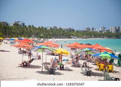Maceió, Alagoas / Brazil - 09/10/2015: Pajuçara Beach