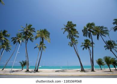 Maceió, Alagoas / Brazil - 09/10/2015: Ponta Verde (Green Point) Beach