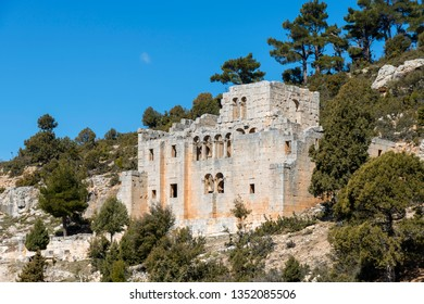 Alahan Monastery is a complex of fifth century buildings located in the mountains of Isauria in southern Asia Minor.Mut district of Mersin province,Turkey.
