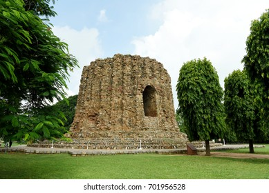 Alai Minar at Qutb Complex in New Delhi. The construction of Alai Minar was started by Alauddin Khilji. Alai Minar is an unfinished monument as Alauddin Khilji's successors did not build it further.