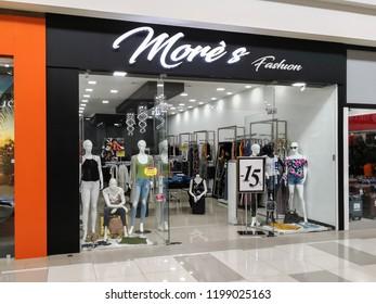 Alajuela, Costa Rica - October 04, 2018: More's Fashion store at City Mall in Alajuela near San Jose, Costa Rica.