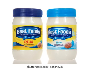 Alameda, CA - February 22, 2017: Jars of Best Foods brand Mayonnaise. Regular and low fat recipes. Best Foods is America's #1 Mayonnaise is made with real, simple ingredients: eggs, oil and vinegar.