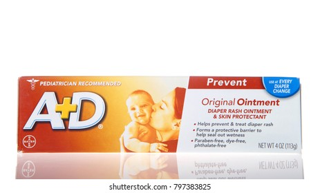 Alameda, CA - January 11, 2018: Container of A and D ointment. Pediatrician recommended. Helps prevent and treat diaper rash.