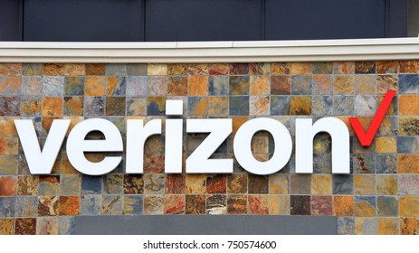 Alameda, CA - October 19, 2017: Verizon Wireless is an American telecommunications company, offering wireless products and services. It is now largest wireless telecommunications provider in the U.S.