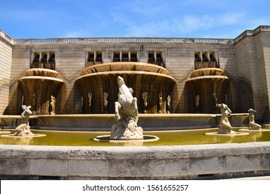 Alameda Dom Afonso Henriques is a street and garden in Lisbon, Portugal. It was built in honor of the first king of Portugal, D. Afonso Henriques and there is the Luminous Fountain. August 2019
