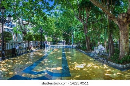 The Alameda Park of Marbella on Costa del Sol in Andalusia, Spain
