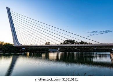 Alamillo bridge, Seville, Spain