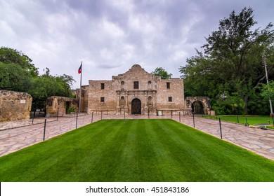 The Alamo in downtown San Antonio, Texas, USA