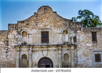 Alamo Mission Facade San Antonio Texas.