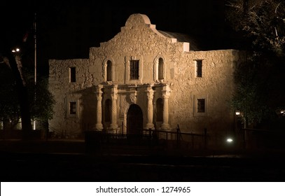 The Alamo mission in San Antonio, Texas, historic landmark of the Texas Revolution