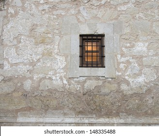 The Alamo National Historic Landmark, San Antonio, Texas/ The Alamo/The well preserved wall and entrance of the Alamo Fort that was instrumental in freeing Texas from Mexico.