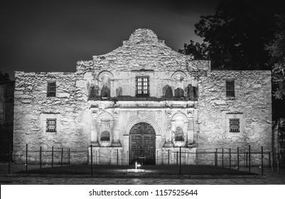 The Alamo at night San Antonio Texas