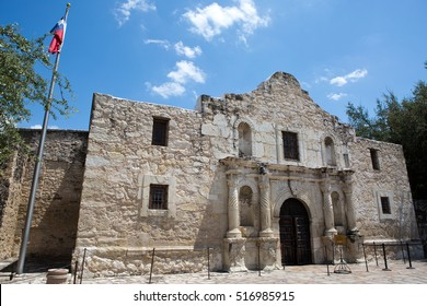 The Alamo in San Antonio, Texas, where the famous battle for Texas independence against Mexico took place in 1836.