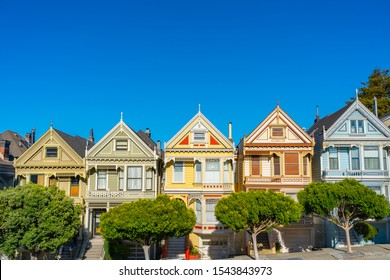 Alamo Square, San Francisco, California, USA.