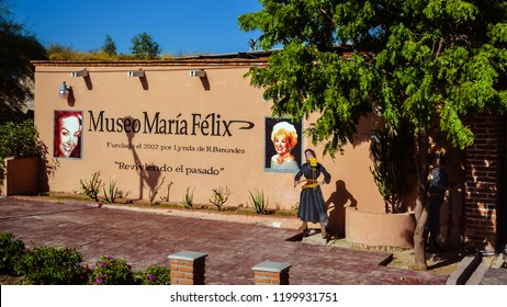Alamos, Mexico - Oct. 30, 2016: Maria Felix Museum. María Félix, often dubbed as Mexico's Marilyn Monroe, is the town's most famous daughter, and this museum is dedicated to her.