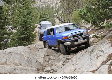 ALAMOSA, COLORADO - CIRCA JULY 2011. Known as among the roughest Four Wheel Drive roads in the country, the Lake Como Road in the Sangre de Cristo Mountains will test the toughest 4x4 vehicle.