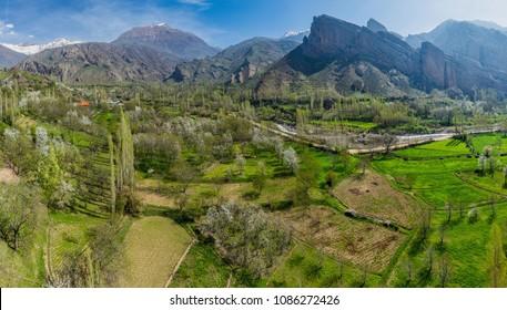 Alamut valley in Iran