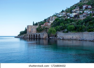 Alanya castle and historical shipyard