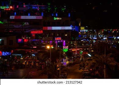 ALANYA - JULY 10:Grand bazaar Alanya, considered to be the old shopping mall on July 10 2014 in Alanya Turkey.